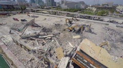 Demolition building Miami 4k 2 Stock Footage