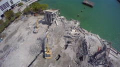 Demolition building Miami 4k 3 Stock Footage