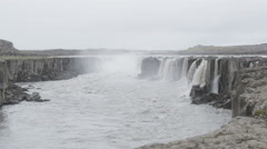 Iceland waterfall Selfoss - tourist attraction destination Stock Footage
