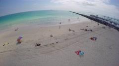 Miami Beach South Pointe Pier and Jetty 4k Stock Footage