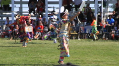 Jingle Dancers at a pow wow Stock Footage