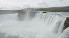 Waterfall Godafoss on Iceland - tourist attractions and landmarks Stock Footage