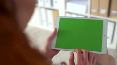 Chromakey Screen on Touchpad Stock Footage