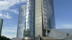 Stock Video Footage of Tilt up Italy Lombardy Milan Milano Unicredit Tower commercial building