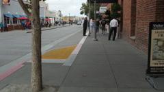 Jefferson Street near Argonaut Hotel, San Francisco Stock Footage