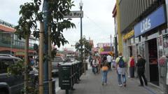 Walking on Jefferson Street, San Francisco Stock Footage