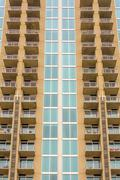 balconies array on an apartment building - stock photo