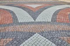 Color paving slabs Stock Photos