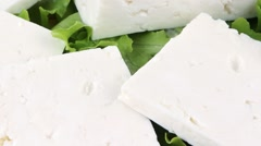 White goat cheese served Stock Footage