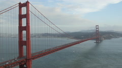 The famous Golden Gate Bridge in 4K Stock Footage