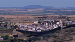 Beautiful view of Elvas city, World Heritage Site Stock Footage