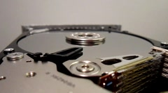 HDD - Hard Disk Drive is open, broken and spin out Stock Footage