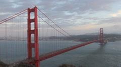 Golden Gate Bridge in 4K at dusk Stock Footage