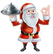 Santa Chef Christmas dinner 2015 B1 [Converted] - stock illustration