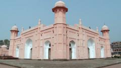 Facade of the Mausoleum of Bibipari in Lalbagh fort in Dhaka, Bangladesh. Stock Footage