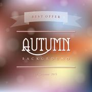 Creative abstract vector natural background in autumn colors - stock illustration
