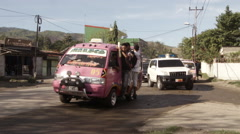 East Timor traffic jam Stock Footage