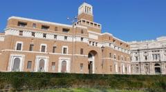 Tribunale di Sorveglianza. (supervisory review court) Rome, Italy. 4K Stock Footage
