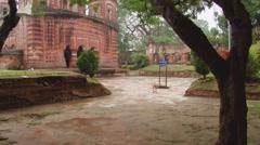 Pancharatna Govinda Hindu temple in Puthia, Bangladesh. Stock Footage