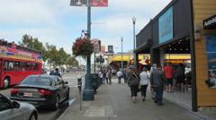 Tourists on Jefferson Street, San Francisco Stock Footage