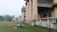 Exterior of the Puthia Rajbari palace in Puthia, Bangladesh. Stock Footage