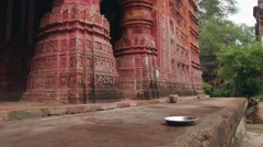 Exterior of the Pancharatna Govinda Hindu temple in Puthia, Bangladesh. Stock Footage