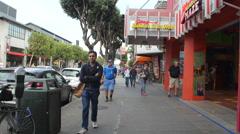 Afternoon on Jefferson Street, San Francisco Stock Footage