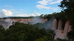 Iguassu Falls in Argentina Stock Footage