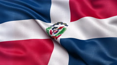 4K Flag of the Dominican Republic seamless loop Ultra-HD Stock Footage