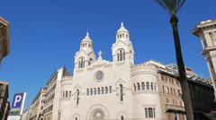 Valdese Evangelical church at Piazza Cavour. Rome, ItalyValdese Evangelical Stock Footage