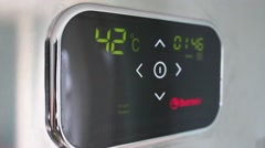 Temperature light panel of the boiler. Stock Footage