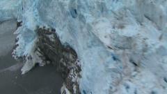 Glacier, Land of Fire, aerial shot pt 6 Stock Footage