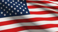 USA Flag High Detail Manual Stitches Linen Seamless 2K Stock Footage