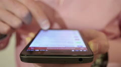 Close-Up Man Browsing Email On Smartphone  Stock Footage