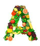 Healthy alphabet - A2 - stock photo