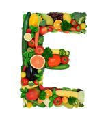 Healthy alphabet - E1 Stock Photos