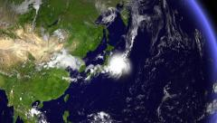 Hurricane In Japan Stock Footage