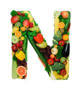 Healthy alphabet - N Stock Photos