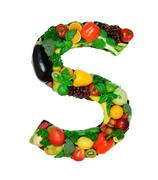 Healthy alphabet - S - stock photo