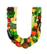 Healthy alphabet - U Stock Photos