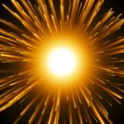 Dazzle Explosion In the Space. Stock Illustration