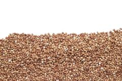 buckwheat with copy space - stock photo