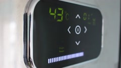 Smart Thermostat In Action Stock Footage