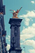 Alexander 3 bridge in Paris. France. - stock photo