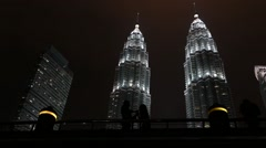 Twin Tower Petronas Stock Footage
