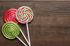 three colorful lollipops - stock photo
