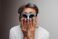anonimous  masquerade - stock photo