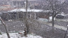 Large snowflakes fall spectacular on super slow motion Stock Footage
