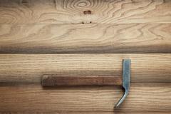 Claw hammer on the table Stock Photos