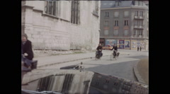 Bicyclists in Chartres Stock Footage